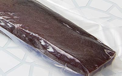 Salted dried tuna loin vacuum bag